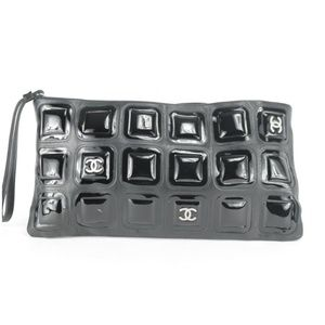 Chanel Large Black Ice Cube Quilted Chocolate Bar